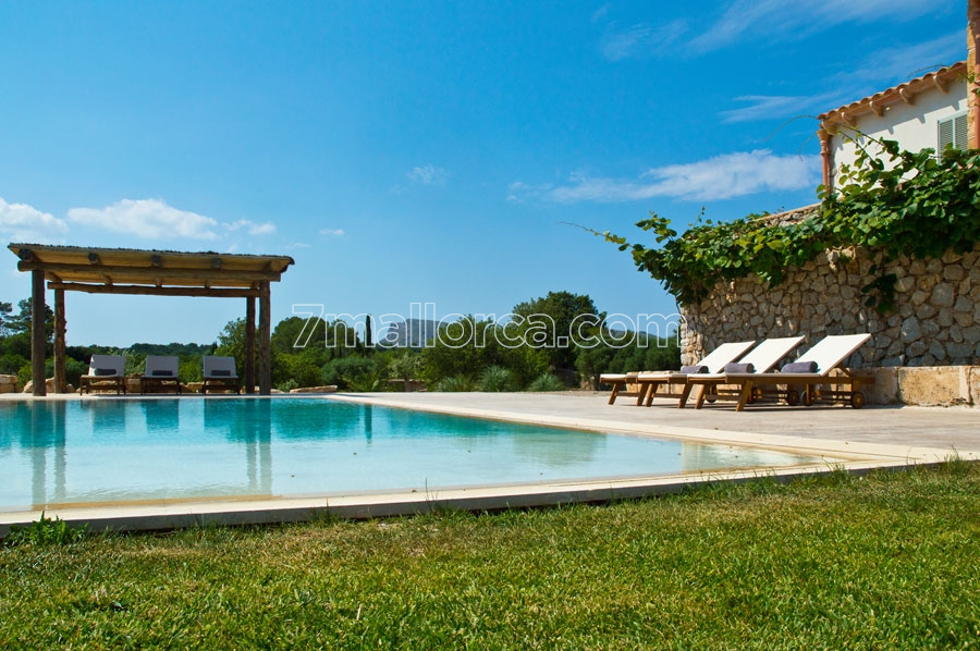 new finca with pool, grill area and modern facilities in artá, Gartenarbeit ideen