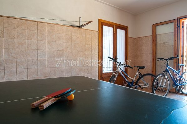 table tennis and bike, majorca, house, pool